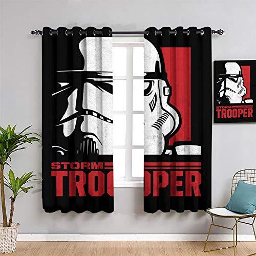 Star Wars Icons Posters Stormtrooper - Cortinas personalizadas para ventana (84 x 84 pulgadas)
