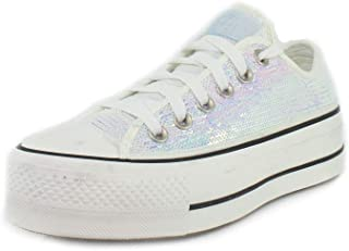 Converse Chuck Taylor All Star Lift Mini Sequins Ox Silver/Black Synthetic Adult Trainers Shoes