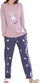 Vopmocld Big Girls' Funny Pajama Sets Winter Long Sleeve Sleepwear Cute Rabbits Loungewear