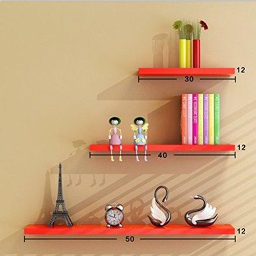 WLH- Wand Rekken muur Living Room Partitie wandplank wandplank Bookshelf Frame (Color : Red)