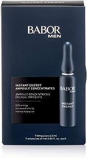 BABOR MEN Instant Energy Ampoule, voor de vermoeide huid, energie & uitstraling, met cafeïne & taurine, hydraterend, 7 x 2 ml