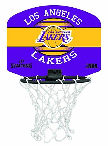 Spalding Uni NBA Mini Board la Lakers (77–656z) minibas ketball Cesto, Multicolore, NOSIZE