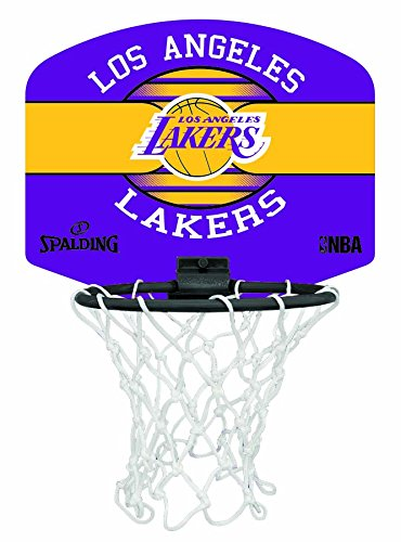 Spalding Uni NBA Mini Board la Lakers (77 – 656z) minibas ketball Cesto, Multicolore, NOSIZE