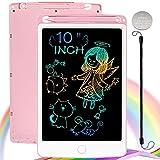 NOBES Tableta de Dibujo Pizarra 10 Pulgadas Color, Tableta Escritura LCD Educativo Infantil Dibujo, Juguetes para 3 4 5 6 años Niños Regalo Niña (Rosa)