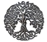It's Cactus Small Tree of Life Wall Art, 17.25 Inches Round, Haitian Metal Artwork Decor, Celtic Family Trees, Modern Plaque, Handmade in Haiti, Fair Trade Certified