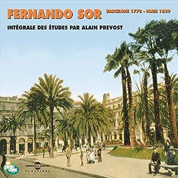 Fernando Sor - Intégrale des études pour guitare (Barcelone 1778 - Paris 1839)