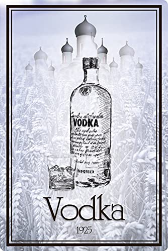 Blechschild 20x30cm gewölbt Vodka 1925 Wodka Bar Männer Geschenk Schild