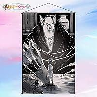 ロリータラバー タペストリー 約束のネバーランド エマ アニメ ポスター 掛ける絵 巻物 軸物 掛け画 カスタム可能 約50cm*70cm「B2」