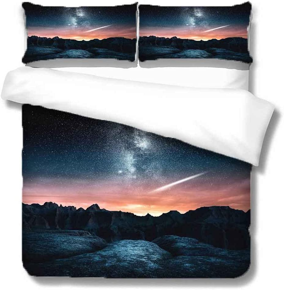 HYHTUD Virginia Beach Mall Duvet Cover Pink Sky Pattern Se Bedding Landscape Printed New Free Shipping