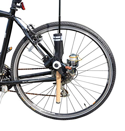 AteamProducts Bike Fishing Rod Holder - Secures Fishing Pole to Bicycle - Easy Mount Rod Rack