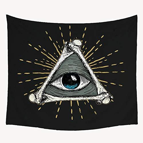 daimubaiVIP Tapiz Hippie Negro Mandala psicodélico Alfombra Colgante de Pared Tapiz Grande Tarot Player Evil Eye Boho decoración del hogar