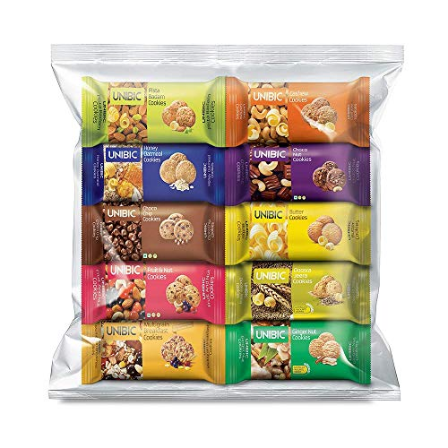 Unibic Assorted Cookies, 75g (Pack of 10), 750 Gram