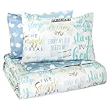 Waverly Lights Out Bedding Set with 2 Coordinating Shams, Full, Spa