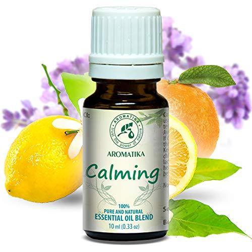 Duftmischung Entspannt 10ml - Beruhigende mit Naturreinem Ätherischen 100% Lavendelöl - Zitronenöl & Orangenöl für Guten Schlaf - Entspannung - Aromatherapie - Duftlampe