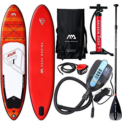 Aqua Marina Monster Atlas SUP Stand Up Paddle Board 366cm Paddel ISUP E-PUMPE