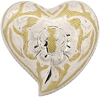 Silverlight Urns Golden Rose Heart Keepsake Urn, Mini Heart Shaped Urn for Ashes, Brass, 3 Inches Wide