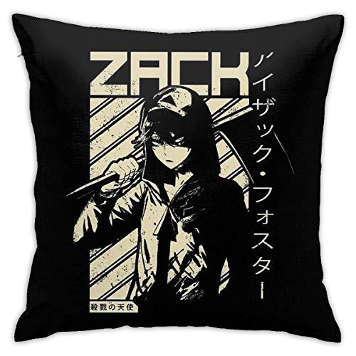 LAKILAN Isaac Zack Foster - Angels of Death Anime Shirt Fundas de Almohada Decorativas para sofá Fundas de Almohada de cojín de sofá 45 * 45Cm Fundas de sofá Fundas de Almohada