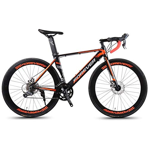 Sport all'aperto Pendolare City Road Bike bicicletta Mountain 14 Speed ​​Road Telaio in alluminio Bicicletta da strada Uomo Donna Bicicletta da corsa con freno a disco meccanico City Commuter Bicic
