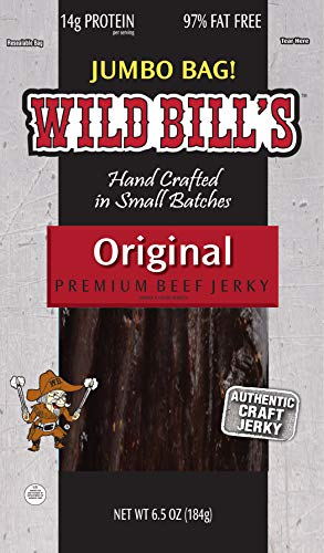 Wild Bills Beef Jerky, Hickory Smoked, 6.5-Ounce