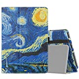 MoKo Funda para All-New Kindle Fire HD 8 Tablet and Fire HD 8 Plus Tablet(10th Generation, 2020 Release) Tablet, Ultra-delgada Cubierta con Soporte Elegente Plegable Smart Cover Stand,Noche Estrellada