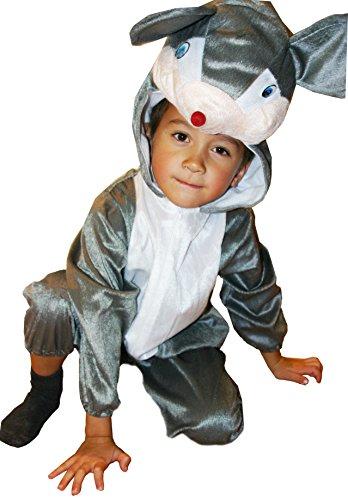 Fun Play Souris déguisement d'animal pour Enfant - Joli Costume d'animal et grenouillère pour Filles et garçons -Costumes pour la Taille Medium 3-5 Ans (110 CM)