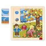 Goula- Autumn Puzzle Encajes Madera otoño, Multicolor (Diset 53087)