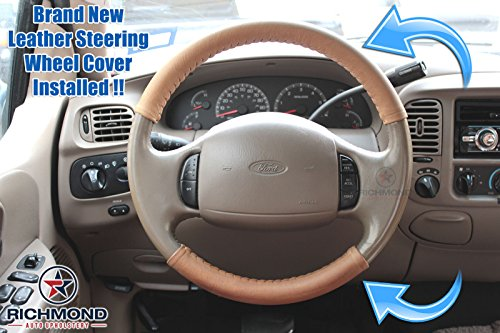 Richmond Auto Upholstery 2003-2007 Ford F-350 King Ranch Leather Steering Wheel...