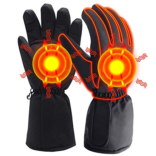 MISBEST Heated Gloves Electric Battery Powered Hand Warmer,Thermal Insulated Touchscreen Heating Gloves