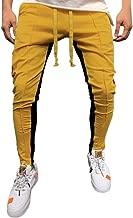 iZHH Fashion Men's Solid Loose Patchwork Color Sweatpant Trousers Jogger Pants