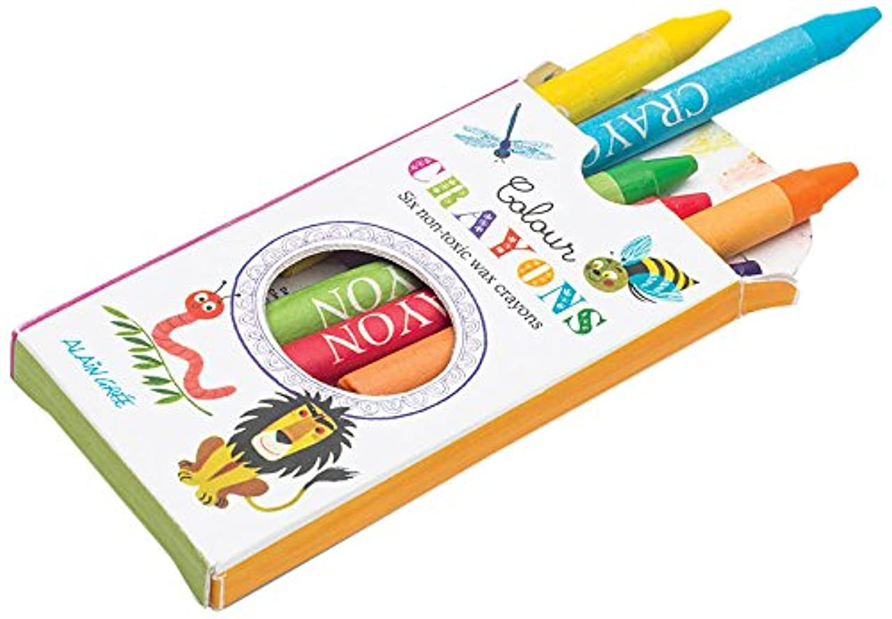 GNU Alain Gree Button Books Crayons (Set of 6)