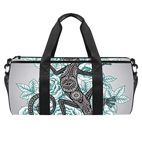 Salamander Sporttasche, zylindrisch, mit Tasche, für Reisen, mit Schultergurt, für Damen und Herren