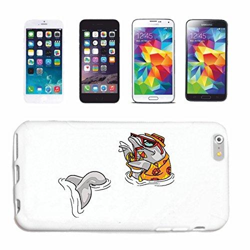 Reifen-Markt Hard Cover - Funda para teléfono móvil Compatible con Apple iPhone 6 DELFÍN con Vasos Gemutlich un cóctel Delfin Delfines DELPHINIDAE cetáceos Flipper