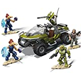 Mega Construx Halo Warthog Rally Vehicle Halo Infinite Construction Set with Master Chief Character Figure, Building Toys for Kids