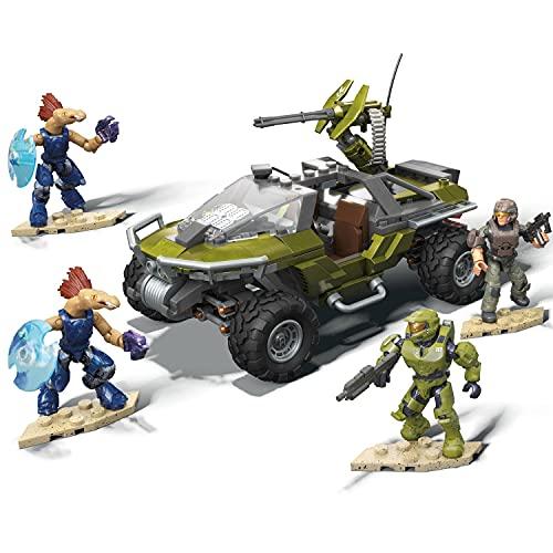 Mega Construx Halo Infinite, La mobilisation du Warthog 2-en-1, véhicule à construire, 314 pièces, jeu de briques de construction, 8 ans et plus, GNB25