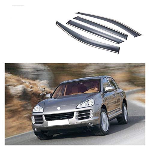 JHDS Ventanillas Viento y Lluvia para Porsche Cayenne 2007-2013 Ventana Lluvia Escudo Coche Escudo De Lluvia Desvíos Tarjetos Torta Cubierta Exterior Coche Deflectores Viento (Talla : 2007-2010)