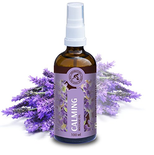 Aceite para Masajes Relajantes 100ml - Aceite de Lavanda 100% Natural - Cosméticos Naturales para Alivio del Estrés - Sueño Reparador - para el Cuidado de la Piel - Aromaterapia