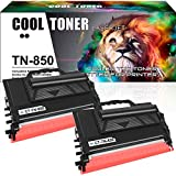 Cool Toner Compatible Toner Cartridge Replacement for Brother TN850 TN-850 TN820 TN-820 TN 850 High Yield Toner for Brother HL-L6200dw HL-L6200dwt MFC-L5900dw MFC-L5850dw MFC-L5700dw (Black, 2-Pack)