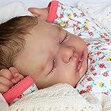 NAIXUE Kit de muñeca de 53 cm Reborns sin pintar bebé muñeca Kit con cabeza completa extremidades y paño corporal, molde hecho a mano DIY juguete realista para niños