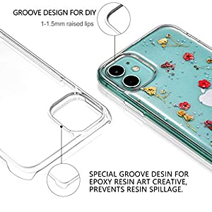 6 Pieces Epoxy Resin Mobile Phone Cases Include 3 Pieces Hard Shells and 3 Pieces Soft Shells Sublimation Blanks Phone…