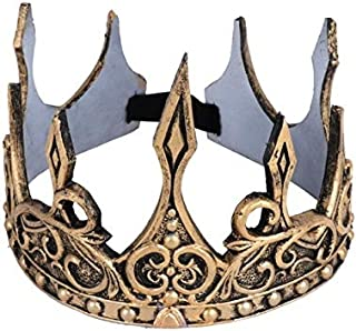 LIANTINGZHENG Costume Cosplay Ancient Gold Crown Kids Birthday Party Hat Tool Stage Prop Gift Party King Queen Day Hallowe...