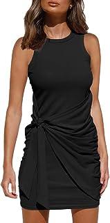 Women's Summer Casual Sleeveless Tank Dress 2021 Crewneck...