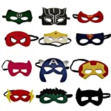 VANVENE Superhero Party Masks for Kids | Includes a new Super Hero Mask | 12 Piece Super heroes Comics Masks are Great for Party Favors & Giveaways for Boys & Girls