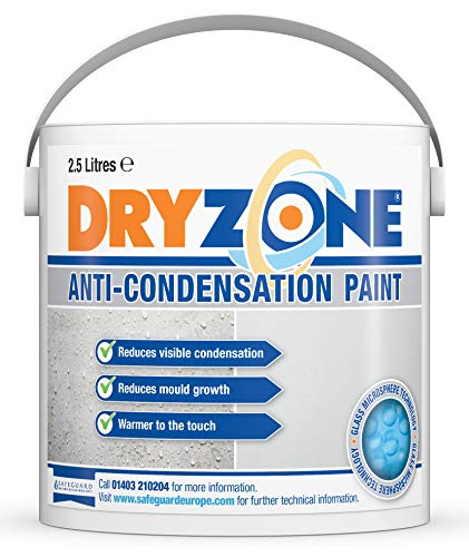 Dryzone Anti Condensation Paint (2.5 Litre, White, Matt Finish) Helps Prevent Mould and fungal...