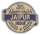 Jaipur City India Grunge Travel Stamp Hochwertigen Auto-Autoaufkleber 12 x 10 cm