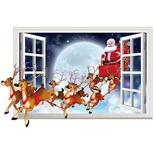 duquanxinquan Wandsticker Schneeflocken Fensterbild Weihnachtsdeko Weihnachten Fensterdeko Set DIY Weihnachtsdeko Winter Dekoration Winter Fenstersticker Hochwertigem Statisch Haftende Aufklebe (B)