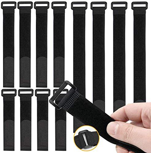 O-Kinee 30 Stück Klettverschluss, Kabelbinder Klettverschluss, Kabel-Klettband Kabelklett Kabelbinder Klettbinder Klettverschluss Büro