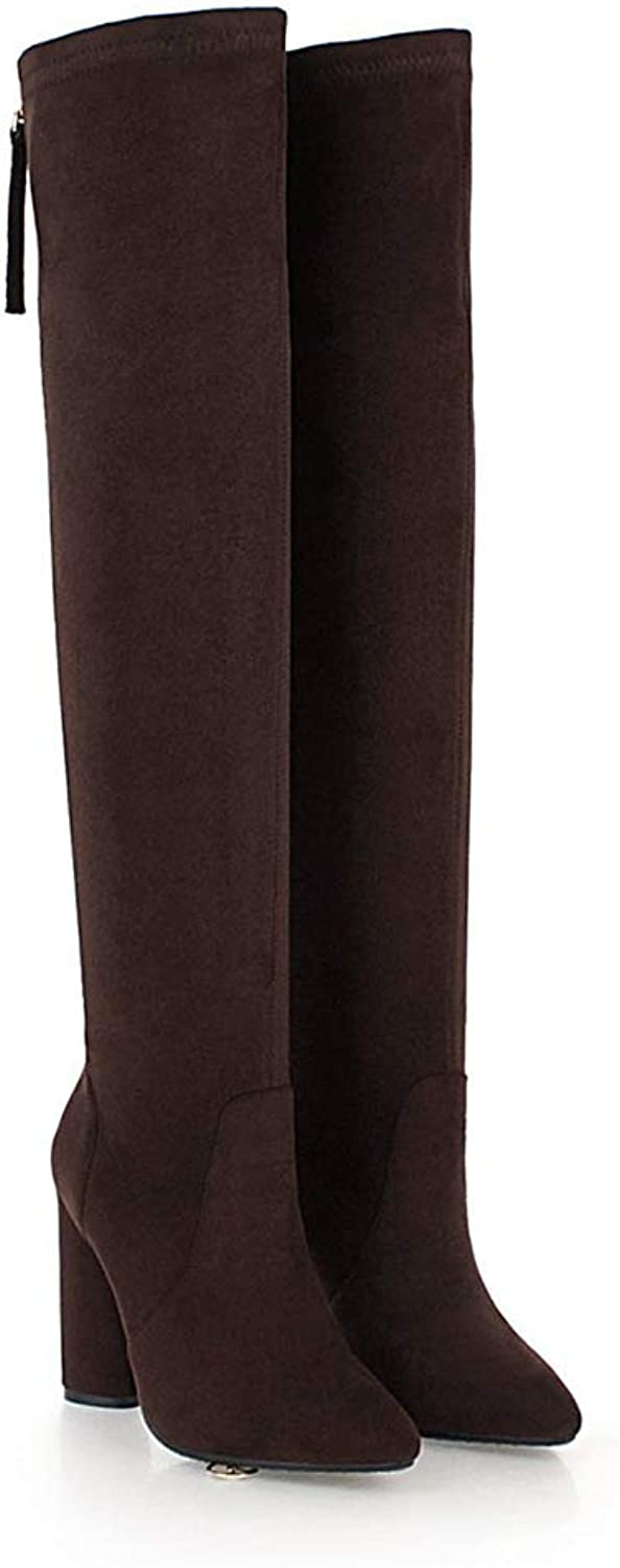 Wetkiss Plus Size Fashion Women Over The Knee Boots Thick high Heels Boots Thigh high Elastic Boot shoes Woman