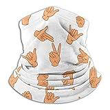 ASL American Charm Sign Language Fleece Neck Warmer Windproof Scarf Bandana Face Masks Seamless Gaiter Outdoor Activities