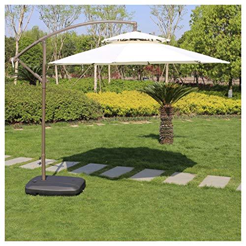 YDDZ Sombrillas de Exterior Sombrillas de Jardín en Voladizo con Sombrillas de Patio Colgantes de Aluminio Inclinadas Sin Base Protección UV Impermeable Piscina y Playa
