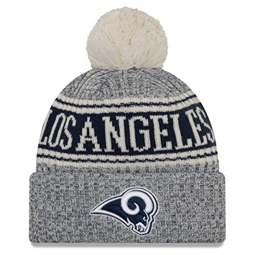 New Era Los Angeles Rams Beanie NFL 2018 Sideline Sport Reverse Knit Navy/White - One-Size